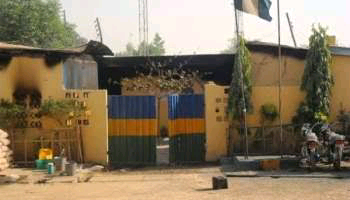 Divisional police headquarters in Aboh mbaise LGA, Imo state set ablaze unidentified hoodlums