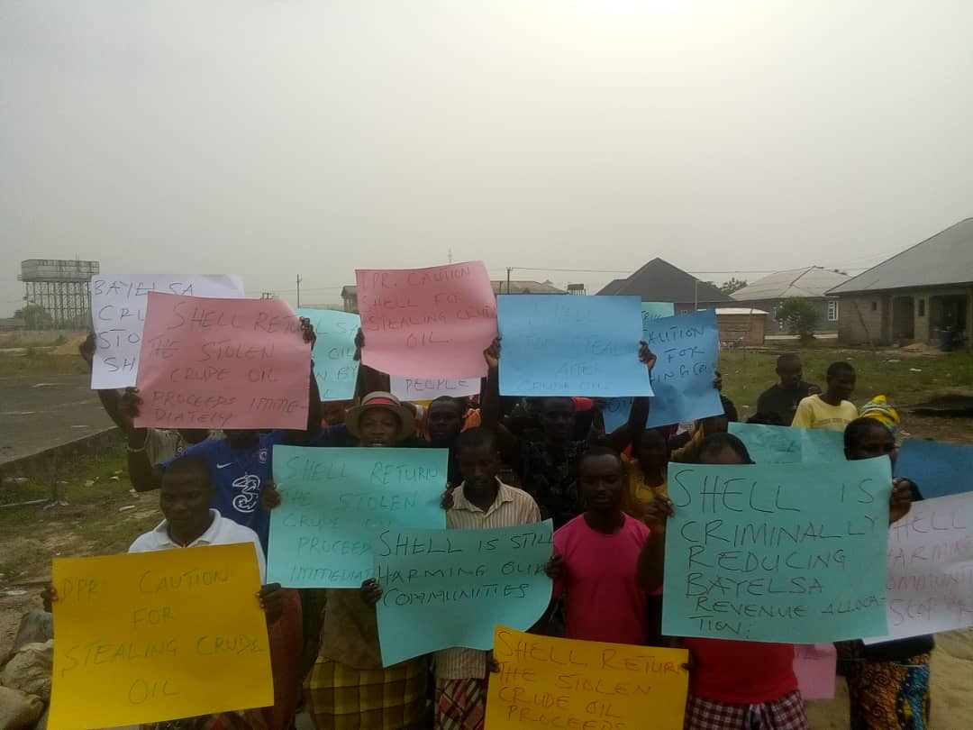 Nembe Communities Protest Agains Alleged Crude Oil Diversion on OML 29