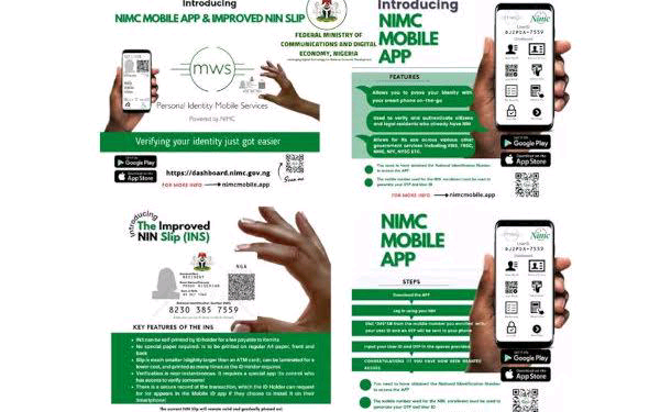 NIMC launches mobile app and improved NIN slip