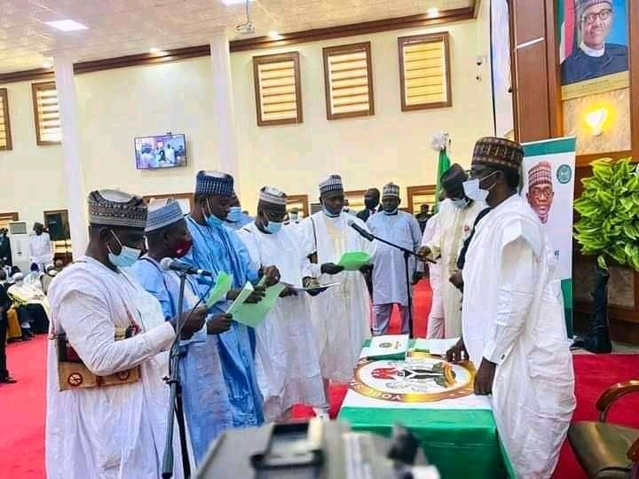 Governor Buni, sworn-in newly elected 17 LG Chairmen
