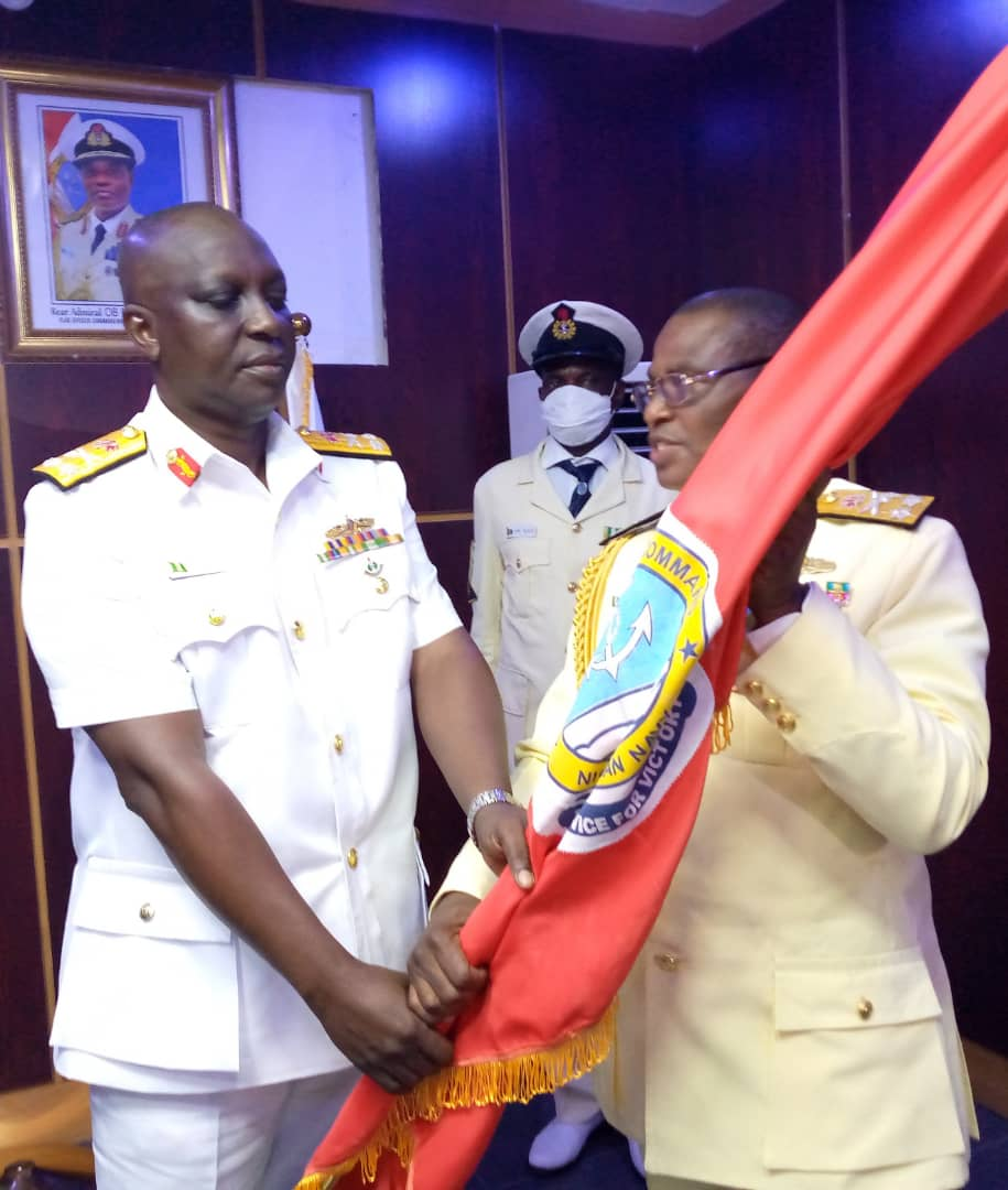 Rear Admiral Jason Gbassa takes over office as the new Flag officer commanding western naval command Lagos