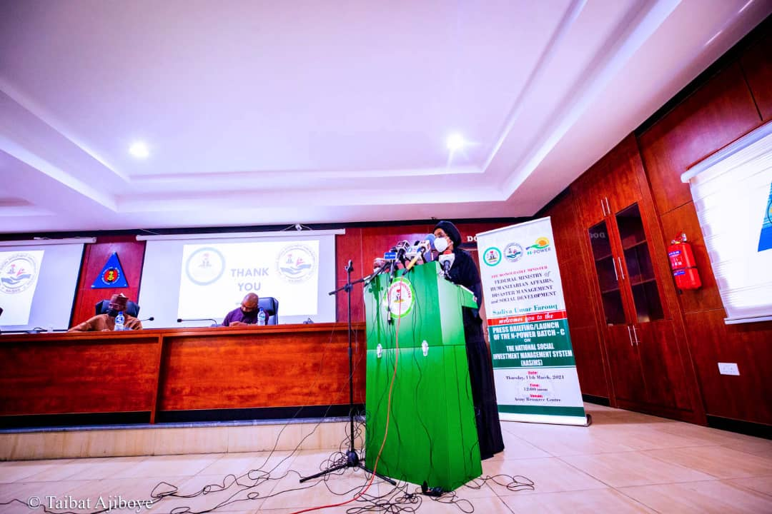 Ministry of Humanitarian Affairs, Disaster Management and Social Development inaugurates Batch C of the N-Power, National Social Investment Management Systems